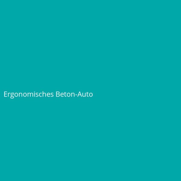 Ergonomisches Beton-Auto